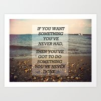 Something Never Done Art Print
