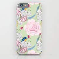 Shabby Chic Bluebirds and Roses iPhone 6 Slim Case
