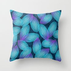 Water Fairy Wings Throw Pillow