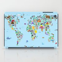 Animal Map of the World iPad Case