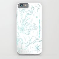 Where We've Been, World, Icy Blue iPhone 6 Slim Case