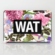 iPad Case featuring WAT by Text Guy