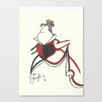Queen Of Hearts Zen Tang… Canvas Print