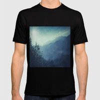 mountain blues Mens Fitted Tee Black SMALL