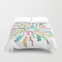Radial Foliage Duvet Cover