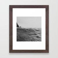 Darkness of Sea Framed Art Print