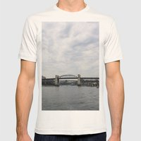 False Creek Mens Fitted Tee Natural SMALL