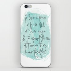 To Love... iPhone & iPod Skin