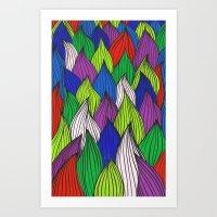 Dancin Onions Art Print