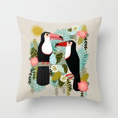 Toucans by Andrea Lauren  Throw Pillow