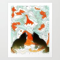 Cats Collaboration Art Print