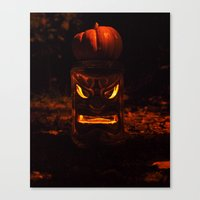 Canvas Print featuring Pumpkin King returns by Vorona Photography