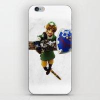 legend of zelda link snow figma iPhone & iPod Skin