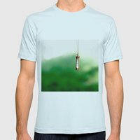 Time Mens Fitted Tee Light Blue SMALL