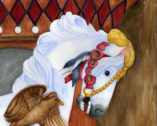 Carousel Horse - Saffron Canvas Print