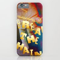 iPhone Cases featuring Break the Chains by Angela Mayotte