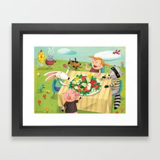 Veggie Grill Out Framed Art Print