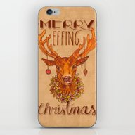 Merry Effing Christmas iPhone & iPod Skin
