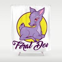 My Feral Doe Logo Shower Curtain