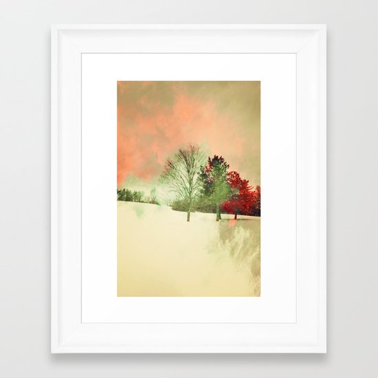 Winter Settlement Framed Art Print