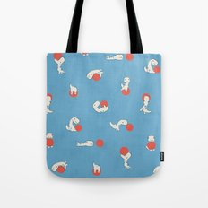 Tiny T-Rex and his Red Ball Tote Bag