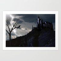 Art Print featuring Mystery on the Hill by Viggart