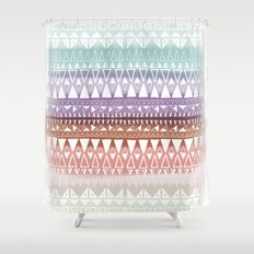 Triangle Gradient Earthy Mix Shower Curtain
