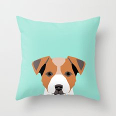 Bailey - Jack Russell Terrier phone case art print gift for dog people Jack Russell Terrier owners Throw Pillow