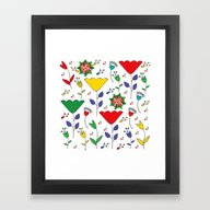 Framed Art Print featuring Floral Pattern #4DS1 by Luizavictorya72