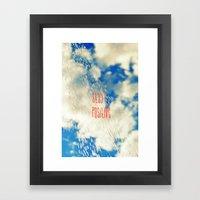 Looking Past the Rain Framed Art Print