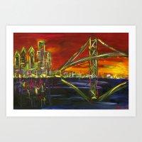 Ben Franklin Sunset Art Print