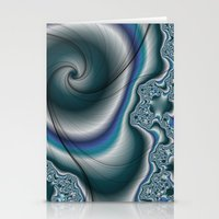 Molten Metal fractal  Stationery Cards