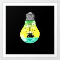 The Idea Of Sailing The … Art Print