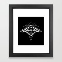 Geometric Moth 2 Framed Art Print