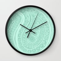 C13 Paisley Pattern Wall Clock