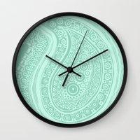 C13 paisley pattern Wall Clock