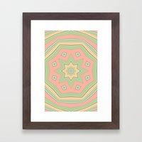 Pattern Cute And Sweet Framed Art Print