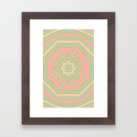 Pattern cute and sweet Framed Art Print