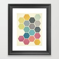 Honeycomb II Framed Art Print
