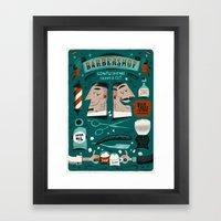 Barbershop Framed Art Print