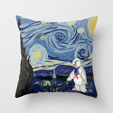 Stay Puff Night Throw Pillow