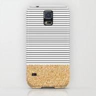 Minimal Gold Glitter Str… Galaxy S5 Slim Case