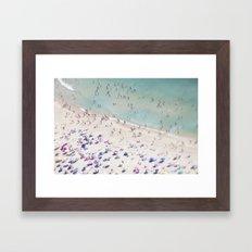 beach love IV Framed Art Print