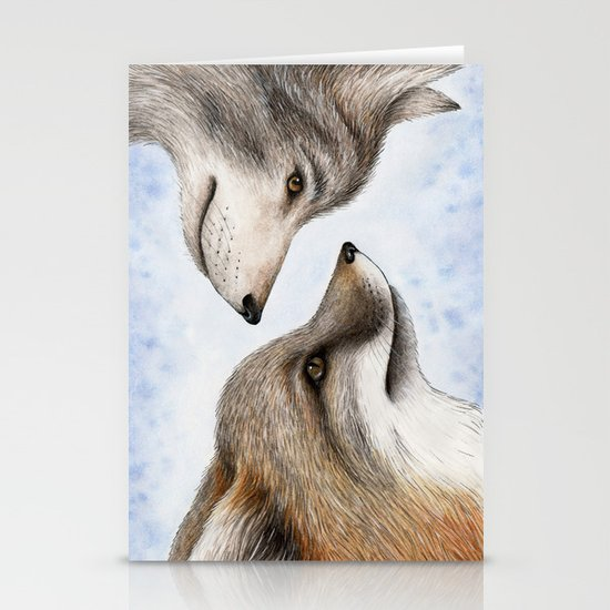 Vanishing Canadian Canids Stationery Card