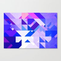 Triangle Blue Canvas Print