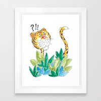 Spots, your tail is up! Framed Art Print