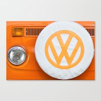 Volkswagen Orange Canvas Print