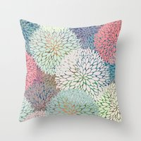 Abstract Floral Petals 3 Throw Pillow