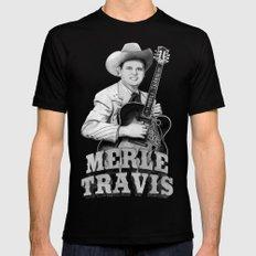 Merle Travis III Mens Fitted Tee Black SMALL