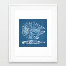 Millennium Falcon Framed Art Print